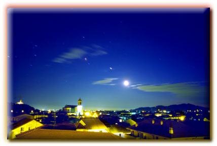 Almè in notturna - Foto panoramiche del Comune di Almè provincia di Bergamo