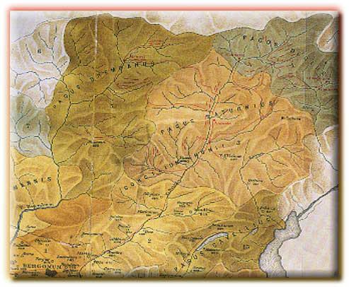 Cartina territori della Bergamasca